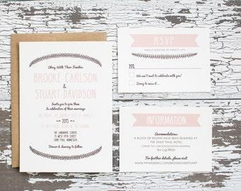 Vintage Vines Wedding Invitation Deposit