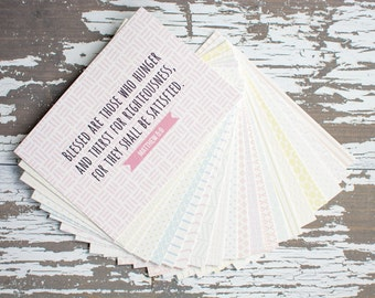 Patterned Memory Verse Cards