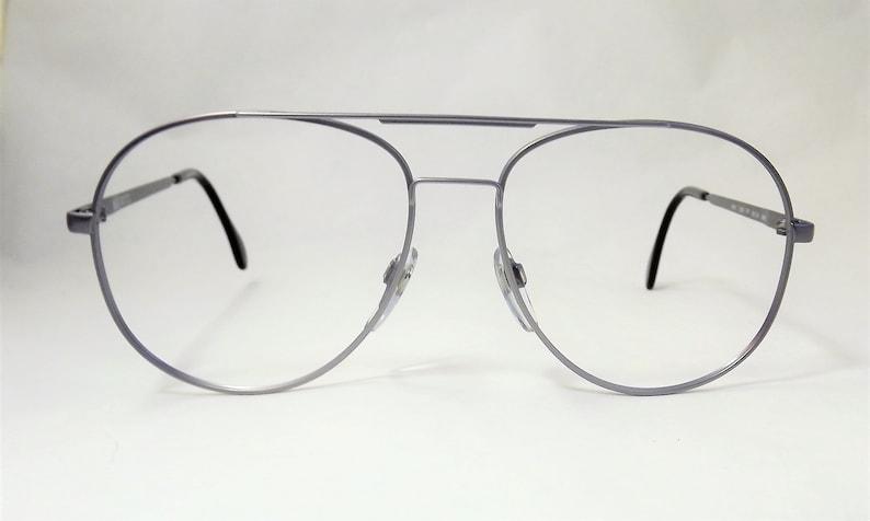 a00b6a58a7c9 Big Silver Aviator Eyeglasses Large Mens Eyeglasses Thin