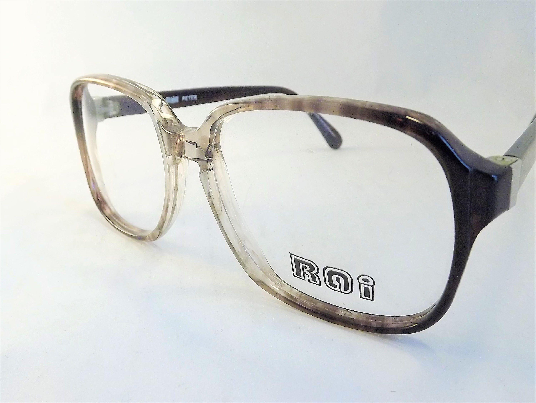 Herren Brille Mens Geek Schildpatt Brille quadratisch braun