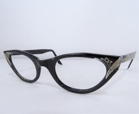 Black Cat Eye Eyeglasses, Vintage Cat Eye Glasses,