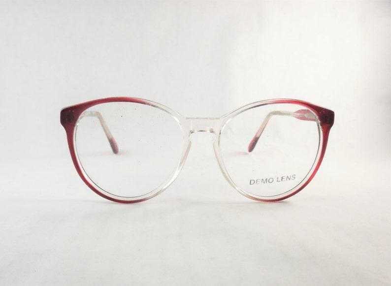 14fe657d55f Clear Eyeglasses Burgundy Glasses Big Red Eyeglasses Round
