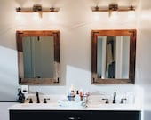 Large Mirrors Set, Set of Mirrors, Wall Mirror, Wood Mirrors, Rustic Mirrors, Reclaimed Wood Mirrors, Vanity Mirrors, Bathroom Mirrors, Home