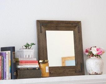 Wood Frame Mirror, Framed Mirror, Modern Mirror, Vanity Mirror, Small Mirror, Mirror, Wall Mirror, Bathroom Mirror, Rustic Wood Mirror,