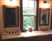 Mirror Set, Set of Mirrors, Wall Mirror, Wood Mirrors, Rustic Mirrors, Reclaimed Wood Mirrors, Vanity Mirrors, Bathroom Mirrors, Home Decor