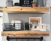 Rustic Floating Shelf, Floating Nightstand, Plant Shelves, Shelves for Storing Dishes, Floating Shelves