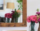 Reclaimed Wood Mirror, Framed Mirror, Wood Mirror, Rustic Wall Mirror, Large Wall Mirror, Vanity Mirror, Bathroom Mirror, Rustic Mirror
