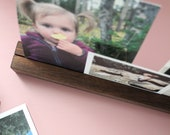 Photo Shelf, Photo Rail, Desk Decor, Walnut Shelf, Maple Shelf, Photo Display Shelf, Hardwood Shelf, Wood Ledge, Wedding Gift, Shelf, Photo