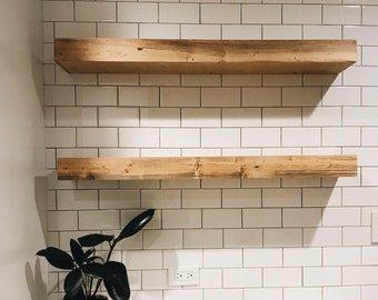 Wood Floating Shelf, Floating Shelf, Wall Shelves, Wall Shelf, Shelf, Home Decor, Floating Shelf Set, Wooden Shelves, Modern Home