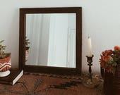 Small Wood Mirror, Rustic Wall Mirror, Small Wall Mirror, Decorative Mirror, Rustic Mirror, Reclaimed Wood Mirror, Farmhouse Decor, Modern