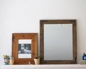 Wood Mirror, Rustic Wall Mirror, Wall Mirror, Small Wall Mirror, Vanity Mirror, Bathroom Mirror, Rustic Mirror, Reclaimed Wood Mirror, Home