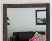 Wood Mirror, Rustic Wall Mirror,  Large Wall Mirror, Vanity Mirror, Bathroom Mirror, Rustic Mirror, Reclaimed Wood Mirror, Mirror, Home