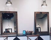 Pair of Mirrors, Set of Large Mirrors, Large Mirrors, Large Wall Mirror, Wood Mirrors, Rustic Mirrors, Wall Mirrors, Vanity Mirrors, Home