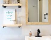Wood Mirror, Modern Wall Mirror, Natural Wood Mirror, Vanity Mirror, Bathroom Mirror, Wood Mirror, Mid Century Modern, Framed Mirror, Mirror