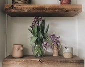 Wood Shelf, Floating Shelf, Wood Shelf, Wooden Shelf, Modern Farmhouse, Shelf, Home Organization, Shelving, Wooden Hanging Shelves