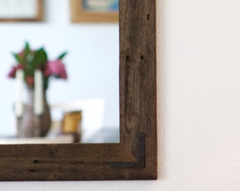 Large Wood Mirror, Rustic Wall Mirror, Large Wall Mirror, Vanity Mirror,  Large Bathroom Mirror, Rustic Mirror, Reclaimed Wood Mirror, Frame