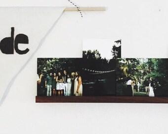 Photo Ledge, Wood Photo Rail, Photo Shelf, Wood Shelf, Handcrafted Photo Rail, Hardwood Walnut, Hardwood Maple, Photo Shelf, Christmas Gift