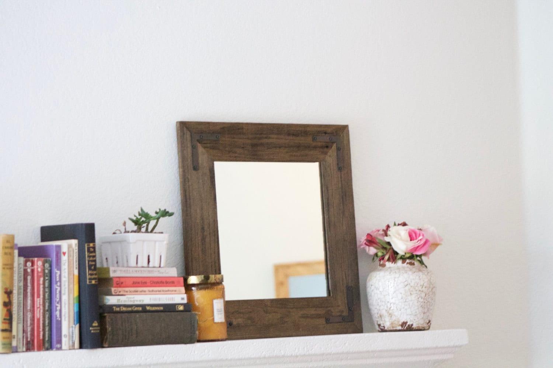Espejo marco de madera enmarcado espejo moderno vanidad