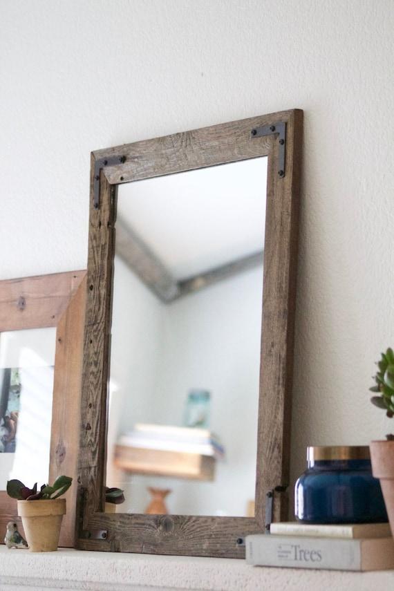 delightful Etsy Vanity Mirror Part - 15: Wood Mirror Rustic Wall Mirror Wall Mirror Vanity Mirror | Etsy