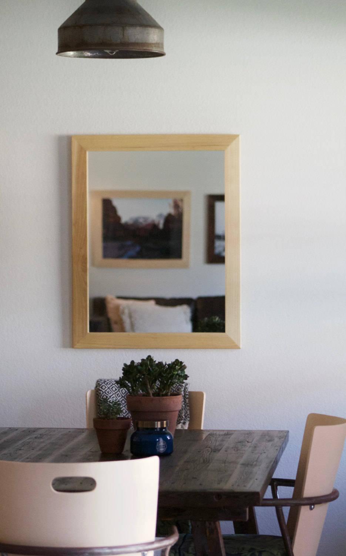 Miroir bois miroir mural moderne miroir en bois naturel etsy for Miroir mural moderne