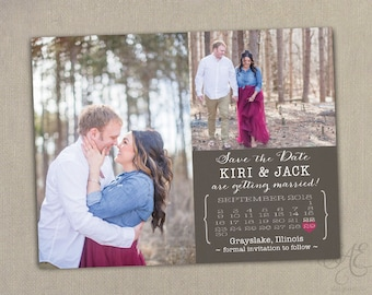 Rustic Burlap Wedding Save the Dates Magnets Cards Postcards 2 photo Rustic Calendar Country Lace Burlap Beach Barn pink burgundy grey