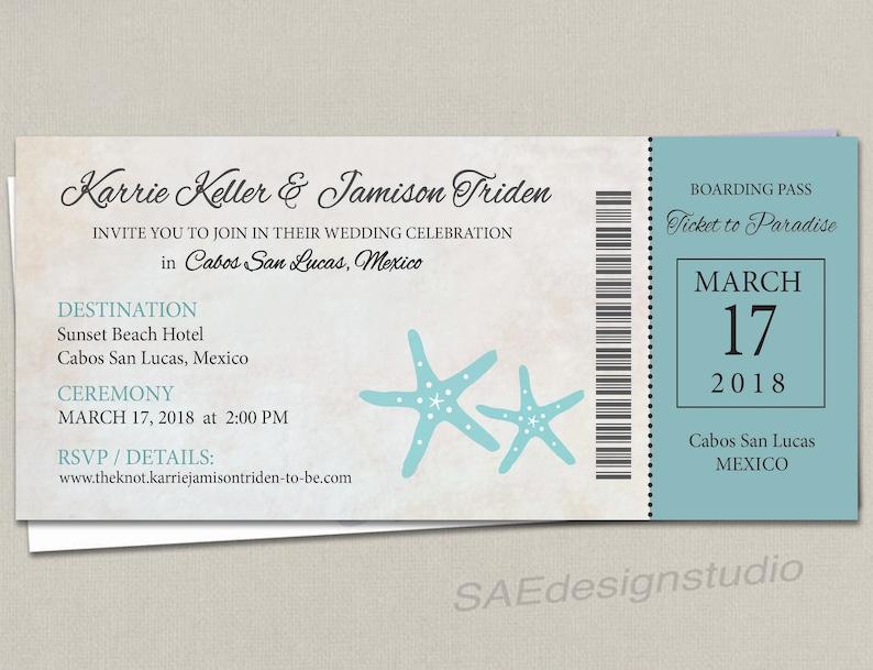 Navy Boarding Pass Ticket Passport Wedding Save the Date Wedding Reception Elope Invitation Card Magnet Destination Travel navy pink