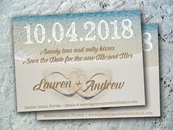 beach save the date wedding reception elopement invitations etsy