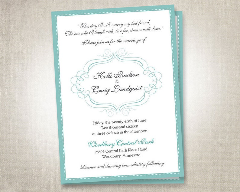Wedding Invitations Invites Rsvp Cards Postcards Mint Blue Coral Peach Pink Blush Gold Blue Mint Green Modern Navy Elegant Cheap Affordable