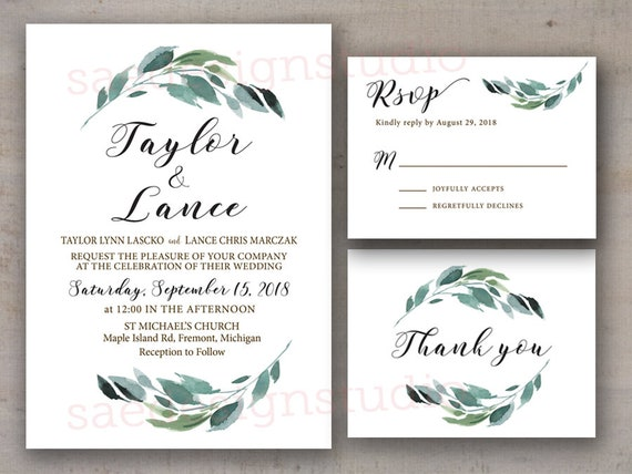 Wedding Invitation Rsvp We Do Elopement Vow Renewal Country Etsy