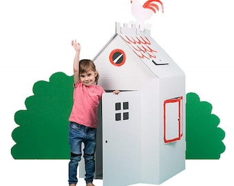 Large cardboard house | playhouse | craft kit | carboard toy