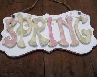 Spring Wood Sign Vintage Spring Sign Spring Decor Vintage Decor Vintage Wood Sign