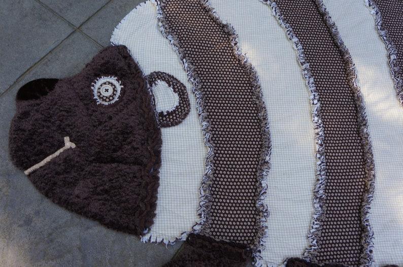 Animal Quilt Cozy Critter Quilt,Crib Quilt,Childs Rag Quilt HEDGEHOG RAG QUILT,Keepsake Quilt