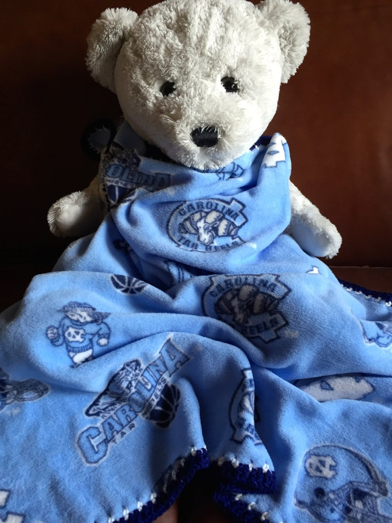 Sports Blanket North Carolina Tar Heels Baby Blanket North Carolina Tar Heels Blanket Tar Heels baby blanket Fleece Baby Blanket