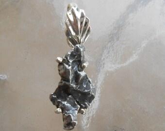 METEORITE Silver Wrapped Pendant