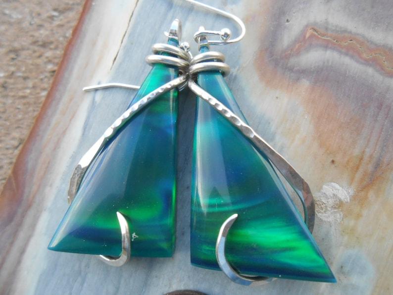 SOLD Carol BEAUTIFUL Aurora Opal Earrings sold   sold