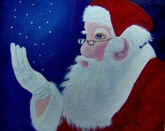 Santa Seeing Snowflakes