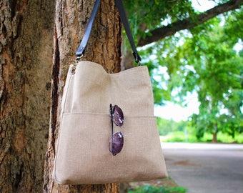 Shoulder bag, Jute tote bag, Slouchy hobo bag