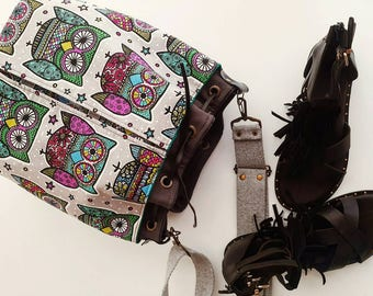 Retro Owl's Bucket Bag