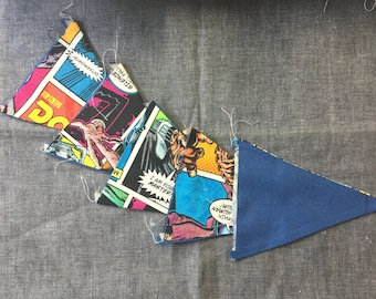 Dr Who & Blue Bunting Flags - 5 Flags