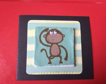 Fabric Googly Eyed Card's - see variations