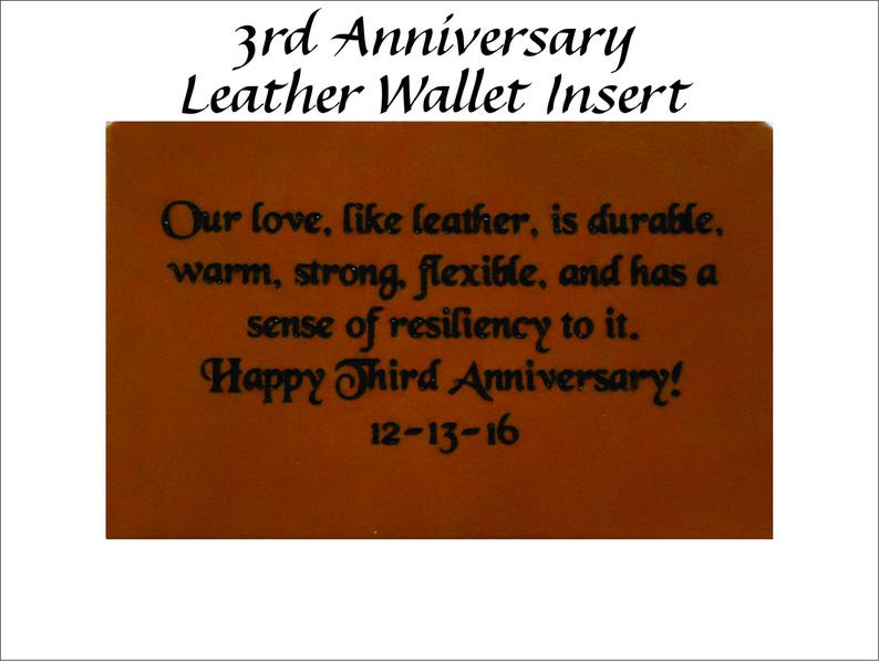 434404b10f5a Unique 3rd Year Wedding Anniversary Gift Leather Wallet