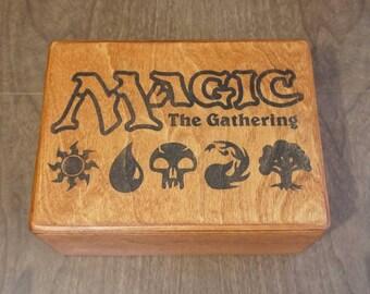 Magic the Gathering Deck Box MTG Kaijudo Carrying Case fully customizable interior Netrunner Commander EDH Cube Storage