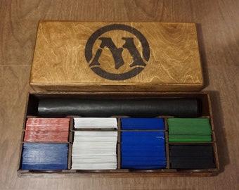MTG Play mat Playmat Deck Box, Magic the Gathering Organizer, Card Case Storage Box, Kaijudo Custom Card Storage Case