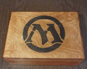 MTG Magic the Gathering Deck Box Case fits 1500 sleeved, 1200 double sleeved, cards and UltraPro boxes. Movable dividers. Commander EDH Cube
