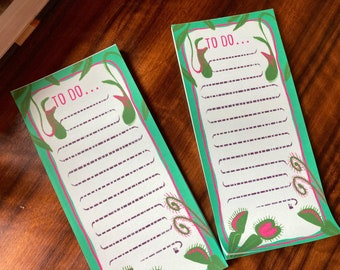 Carnivorous plants DL to do list - easy tear off pages, botanical stationary, desk pad, gift, daily planner,cute stationary, gothic