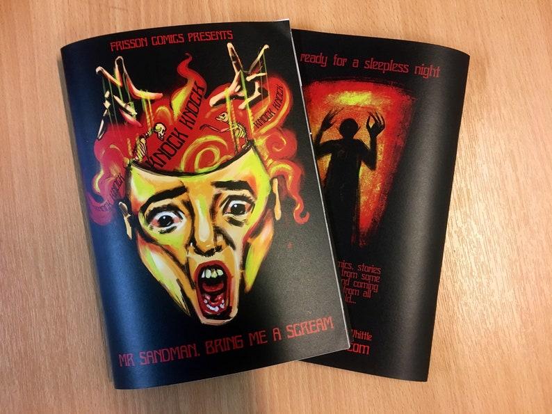 Knock Knock horror zine- Mr Sandman bring me a scream, horror art, horror  stories, nightmare art, occult book, zines, self published