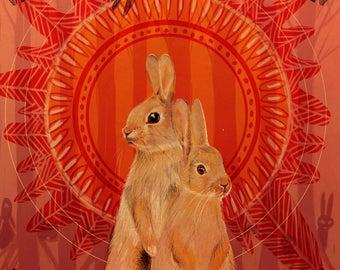 Watership Down- The thousand, Rabbit illustration print