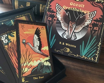 Occult Ornithology tarot deck and guide! Majors only deck celebrating the beauty of birds! - gold foil, divination, bird lovers gift