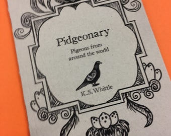 Pidgeonary- a pigeon appreciation book, pigeon gifts, zine, nature art, pigeons painting, bird lover, doves
