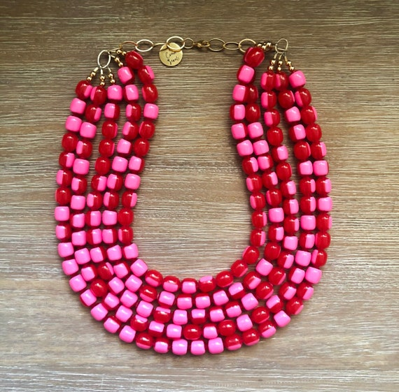 Set fashion jewelry gilded seed beads cabochon wooden red print sheet Pearl twisted threads earrings Choker necklace extension